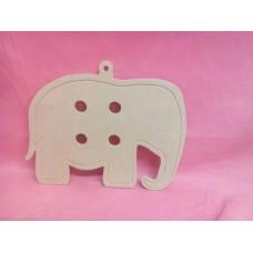 4mm MDF Button Elephant shape